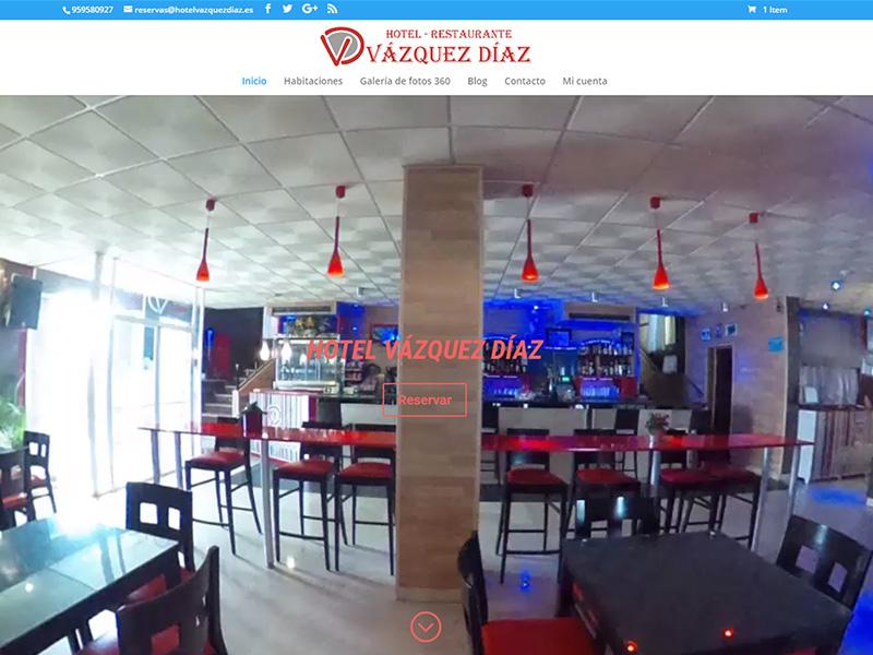 Nueva web del Hotel Vázquez Díaz